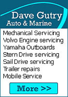 Dave Gutry Marine. Volvo Marine engines, Yamaha outboards motors, Outboard servicing, steering systems, fuel systems, batteries, sail drives, stern drives,